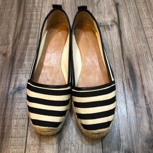 ANTONIO MELANI Striped Canvas Shoe Size 8